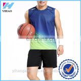 Yihao Wholesale Top Quality Customized Cheap Basketball Sports Uniforms Plus Size