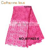 Catherine African Bridal Eco-Friendly High Quality Laser Cutting Voile Lace Fabric