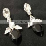 Tiny Droplet Gold Plated Party Wear Earrings Set In Black Color