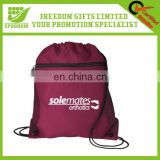 Hot Custom Logo Promotional Zipper Drawstring Bags