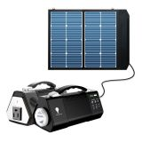 Outdoor Camping Portable AC/DC Solar Energy Emergency Lighting System Kit 100W