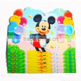 2016 new style cartoon birthday invitation card for kids/greeting card/paper card/eco-friendly