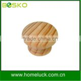 Ecofriendy natural round wooden knob kids resin drawre knobs