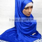 S041 new fashion solid color 100% cashmere big islamic muslim scarf