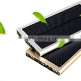 waterproof solar charge power bank 20000mah and high power water proof solar power bank for smartphone and travelling