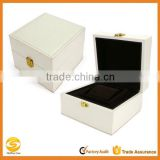 Single Leather Watch Box Jewellery Bracelets Case Gift Box,black leather watch travel case