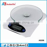 plastic digital electric kitchen scale 5kgs