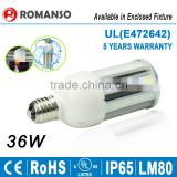 led light new products 6063 Aluminum E27 E40 36W 45W 54W LED Corn Light with CE ROHS Approved