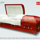 red colored coffin CardCAMERON wood casket cardboard casket