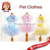 Spring and summer wave lollipop drops tutu Teddy pet dog clothes wholesale supplies