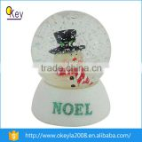 manufacturers custom plastic snow globe with blowing snow