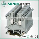 UK2.5 Screw Terminal Type electronic blocks with din rail