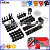 BJ-Screws-2005 Aftermarket Aluminium Sportbike Motorcycle Fairing Bolts Kit Fastener Clips Screw