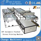 Automatic Flat bed Silk Screen Printing Machine for sale/Oxford cloth/Shoes Vamp/Leather/Slippers