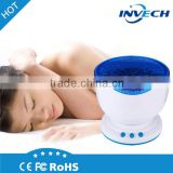 ocean sea waves projector speaker led night light lamp laser light portable water wave projector with built-in speaker