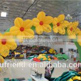 Yellow Wedding Inflatable Arch wholesale flower festival opening ceremony
