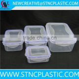 4pieces airtight plastic food container sets various size                                                                                                         Supplier's Choice