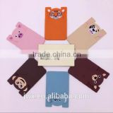 Pink piggy cute silica gel card sleeve for cellphone