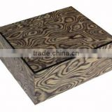 Exquisite Las Vegas Natural Veneer With Rich High Gloss Finish Wooden Christmas Chocolate Box
