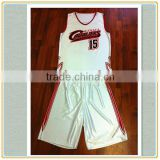 cheap sublimation polyester basketball wear sports men junior/100% polyester basketball sets