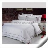 100% Cotton Polyester Cotton White Sateen Jacquard Fabric Bedding Sets for Star Hotel Sleeping Pillow Case Cover Bed Sheet                                                                                         Most Popular