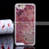 hot Mobile phone moving glitter flash light case for iphone 5,wholesale tempered glass screen protect