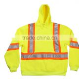 Yellow Safety Reflective Jacket Safety Garment Ladies Reflective Safety Jacket Brushed Fleece