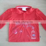 cute children clothes baby kid red long sleeve shirt kids girls polo t shirt
