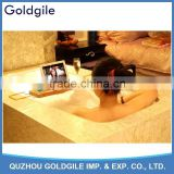 Multifunctional Natural Bamboo Bathtub Caddy with Soap Tray