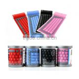 Waterproof Flexible 2.4GHz Wireless Silicone Bluetooth Keyboard