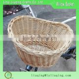 Wholesale Bulk oval cheap Natural wicker baskets/Willow bicycle baskets /Wicker bike baskets