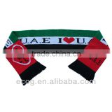 Customized high quality acrylic barcelona football scarf