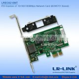 Support PXE PCI-Express x1 10/100/1000Mbps Lan Card RJ45 Ethernet Connector Adapter (BCM5751 Based)