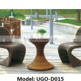 outdoor garden Bar Table and Chairs with Iron/Aluminum frame and UGO PE rattan Cheap Wholesale