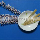 9cm with handle and skin bamboo skewer,temperature stick,bamboo knotted skewers