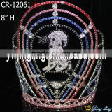 cute dog rhinestone colored tiara pageant crowns