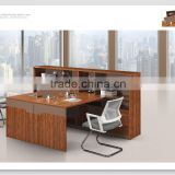 White and black staff working desk office workstation design with hang-in cabinet for USA