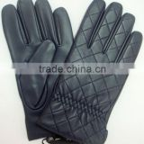 2014 new collection men dress gloves lamb skin leather gloves with wool cashemere lining for men