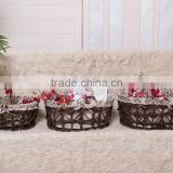 China folk art Cheap Handmade Storage Straw Basket