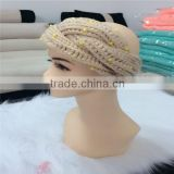 Factory directly Best Selling Croche Headband With beads , crochet headband