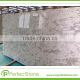 White back ground with ruby and light green spot Andromeda White granite Slab for vanity top