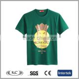 wholesale china 100% organic cotton man green tshirt china