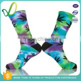 Sports Design Your Own 100% Cashmere Mens Colourful Marijuana Leaf Socks