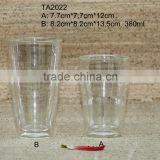 Double Wall Glass Cup / Clear Borosilicate Heat Resistant Glass Mug / High Quality Coffee Cup