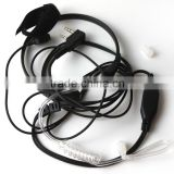high quality heavy duty throat microphone with acoustic tube headphone for BAOFENG/TYT/HYT/ZASTONE radio