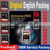 Original Package Extreme Pro SD Card 64GB Class 10 UHS-3 95MB/s Speed Sd SDXC Memory Card 32 128 256 GB micro 4K Camera Video