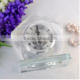 2016 Pretty crystal block mini wall crystal clock for house decotation