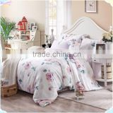 Fresh and elegant new designs home textile fabric bed sheet /padded comforter sets / white hotel bed sheet wholesale