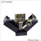 Special design high quality custom luxury perfume box packaging with slap-up lining made in shanghai