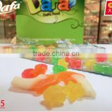 Fish shape star shape gummy candy fruit flavored soft halal jelly candy